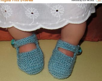 50% OFF SALE Instant Digital File pdf download  knitting pattern - Baby High Front, High Back Shoes pdf download booties knitting pattern