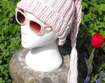 50% OFF SALE Instant Digital File pdf download knitting pattern- Superfast Wee Willy Pinky Pixie Slouch nightcap hat knitting pattern pdf do