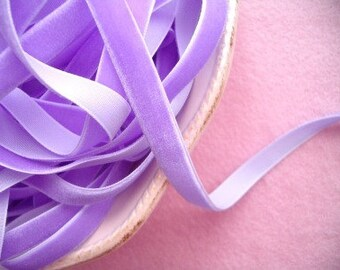 Orchid Velvet Ribbon - 3/8 inch - 3 Yards
