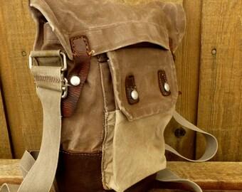 Swedish Canvas & Leather Military Satchel - World's BEST Man Bag