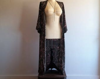 vintage 1970's robe // kimono robe // festival wear // burlesque robe