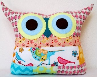 Use coupon code /PATCHWORK / owl cushion/home decor/owl pillow/Ready to ship(Large size)/'express shipping