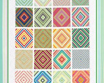 UPTOWN STRIPES ©2012 Modern Quilt Pattern by Nellie J Designs - NJD114 - uptown stripes quilt pattern