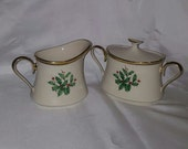 Vintage New Old Stock Lenox Holiday (Dimensions) Large Cream and Lidded Sugar Set