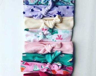 Sweet spring wrap headbands (pick 3)