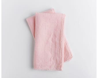 Blush napkins. Set of 2. With a rustic and simple breeze these 100% linen napkins still classic and polished. Free shipping to US orders.