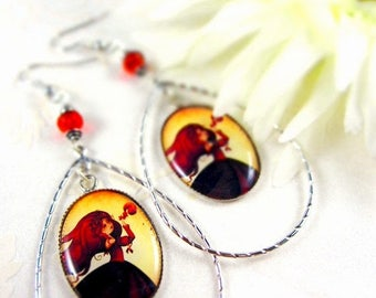 Spring cleaning sale Mabon - Illustrated earrings