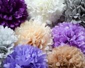 MINI TISSUE POMS .. Wedding Decoration, Nursery and Room Decor, Baby Mobile, Birthday, Baby Shower
