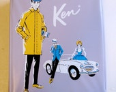 Lavendar Ken Doll Carrying Case 1962 - Barbie/Ken Doll Collectible Accessory
