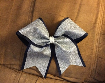 Double layer glitter cheer bow texas size