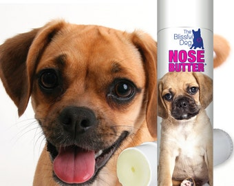 Puggle ORIGINAL NOSE BUTTER® Handcrafted All Natural Balm Soothes & Conditions Rough, Dry or Crusty Dog Noses .50 oz. Tube with Puggle Label