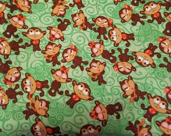 Green Monkey Fabric
