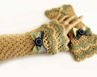 Crochet mittens, Boho mittens, Fingerless gloves, Fingerless mittens, Wedding mittens, Victorian mittens, Steampunk mittens, Lolita mitts