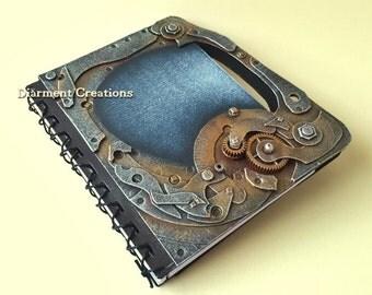 Steampunk Notebook Machinery Blue