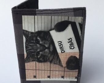 Bifold wallet, recycled wallet, thin wallet, slim wallet, handmade wallet