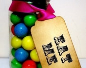 Alice in Wonderland EAT ME Tags/ Eat Me Labels/ Favor Tags Circus-SET of 10-Ribbon Choice Available