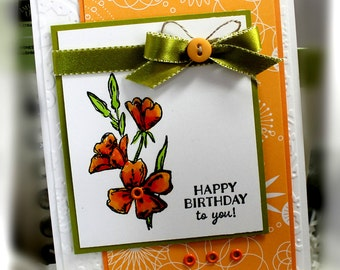 Stampin' Up Happy Birthday to You Card