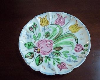 "Vintage Home Serving Blue Ridge China ""Nove Rose"" Plate Southern Potters"