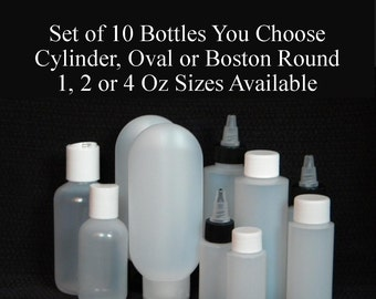 Empty Plastic Bottles, 4 Oz Bottles, 2 Oz Bottles, 1 Oz Bottles, Lotion Bottles, Round Bottles, Oval Bottles, Shampoo Bottles