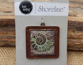 RESERVED for Jackie  ~  Square Shell Jewelry Component  ~  Shell Pendant  ~  Square Shell Pendant  ~  Shell Jewelry Supply