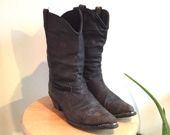 Black Leather Western Boot from Dingo // Size 8