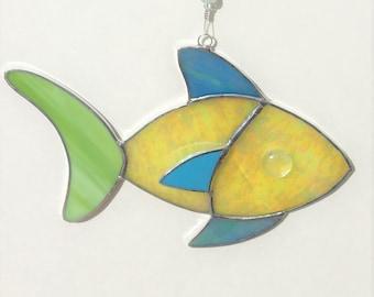 Stained Glass Sun Catcher, Tropical Fish, Glass Fish, Sunctcher, Nautical Decor