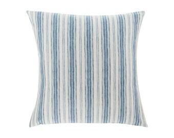 BLUE Pillow Cover.Decorator Pillow Cover.Home Decor.Large Print. BRUNSWICK DENIM. Cushions. Cushion.Pillow. Premier Prints