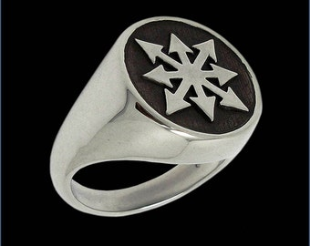 Sterling Silver Chaos Ring -  ALL SIZES - Chaos Star