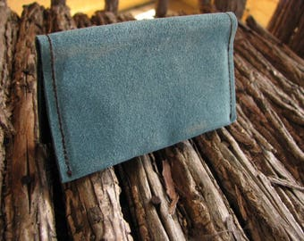 Minimalist Business Card Holder/ Eco-friendly and Vegan BUSINESS CARD HOLDER/  Waxed Ultra Suede
