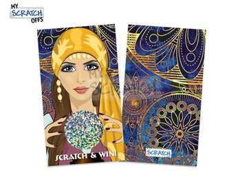 Scratch Off Fortune Teller Game Cards - Fun Party Favor Crystal Ball Scratch Off Cards