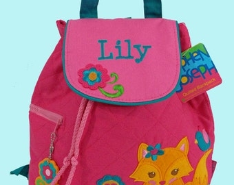 Personalized Child's Stephen Joseph Quilted FOX Backpack-Monogrammiong Is Included