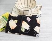 Tea bag Tea wallet - Teabag case for travel - spoons -  tea caddie