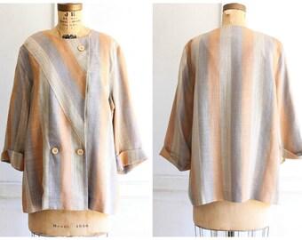 80s vintage linen jacket Lanvin | linen skirt | linen suit