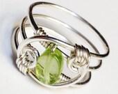 Peridot Ring   Peridot Gemstone Ring  Peridot Jewelry  August Birthstone  August Birthday