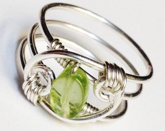 Peridot Ring   Peridot Gemstone Ring  Peridot Jewelry  August Birthstone  August Birthday