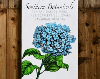 "Blue Hydrangea - Southern Botanicals - 24x36"" - Home Decor - Rupiper Designs Original"