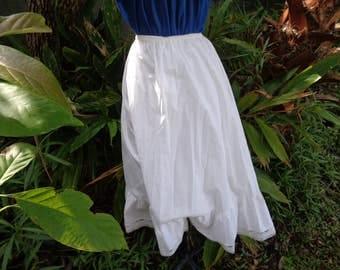 50s 60s Melody White cotton Ladies white Lace trim Petticoat slip size Medium
