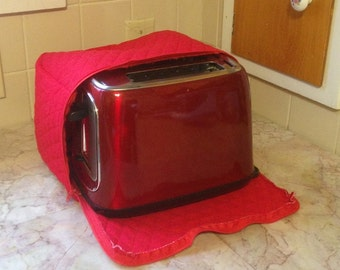 Red Zipper 2 Slice Toaster Cover Made To Order