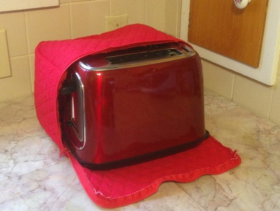 red zipper 2 slice toaster cover made to order. Black Bedroom Furniture Sets. Home Design Ideas