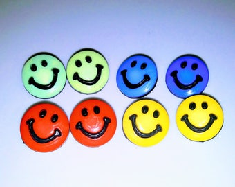 DESTASH, Buttons, Craft Supplies, Card Making, Sewing Notions, Notions, Accessories, Smiley Face Buttons, Happy Face Buttons,