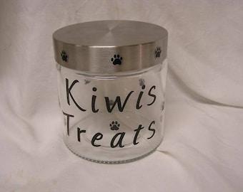 Personalized Glass Dog/Cat Treat Jar