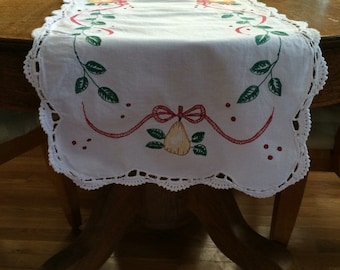Items Similar To Off White Linen Table Runner With