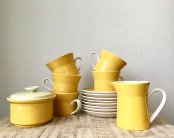 Vintage Mikasa Playmates Tea Set in Citrus, 16 Piece Set