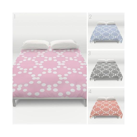 Modern Duvet Cover - Pink duvet cover - Periwinkle duvet cover - Twin XL duvet - Twin bedding queen duvet cover - king duvet - full duvet