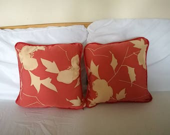 Floating Leaves cushions