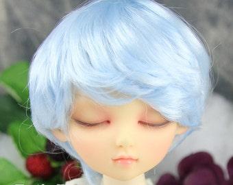 Fatiao - New Dollfie MSD Kaye Wiggs 1/4 BJD Size 7-8 inch Dolls Wig - Light Blue