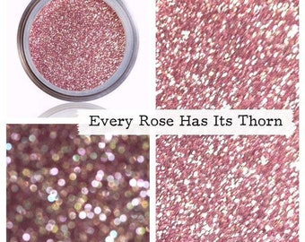 Pink Glitter Makeup, Cosmetic Glitter, Loose Pigment, Rose, Sparkle Shimmer, Eyes Lips Face, Metallic Finish, Nail Art Polish, Best Rose