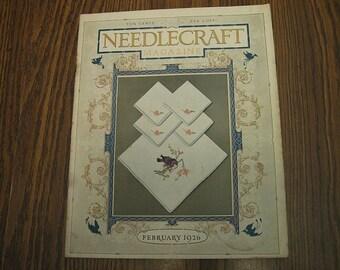February 1926 Needlecraft Magazine Crochet Cross-Stitch Patterns Food Fashions