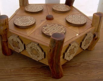 Large Celtic Knot Pattern Pentagon Twig Box