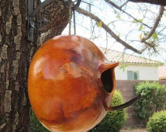 Gourd Bird House Natural Primitive Pumpkin Decoration